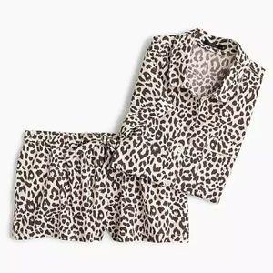 J. Crew    Leopard-Print Pajama Set
